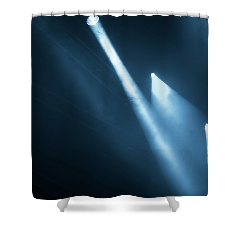 Event Shower Curtain featuring the photograph Stage Lights by Troyek