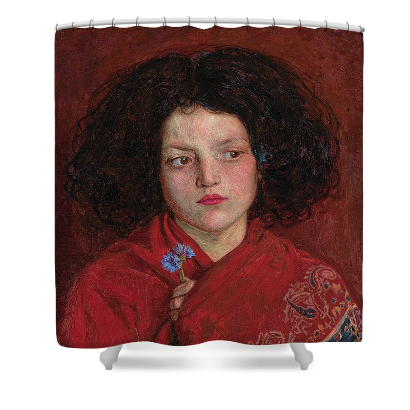 British Shower Curtain featuring the painting The Irish Girl by Ford Madox Brown
