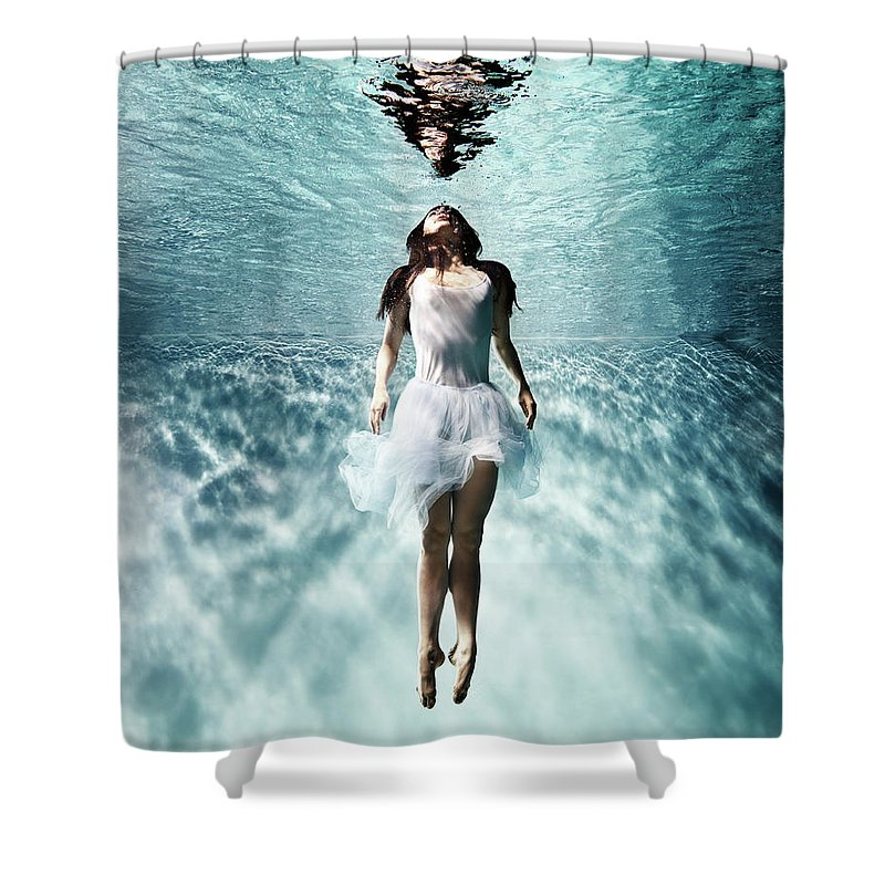 Ballet Dancer Shower Curtain featuring the photograph Underwater Ballet by Henrik Sorensen