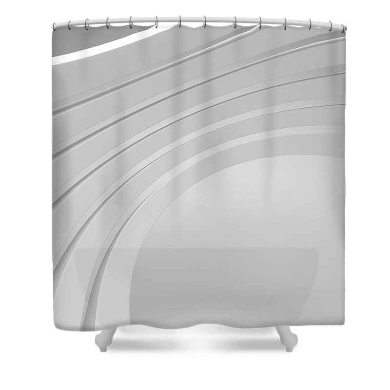 Arch Shower Curtain featuring the photograph 3d Abstract Architecture Background by Me4o