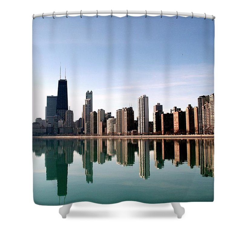 Lake Michigan Shower Curtain featuring the photograph Chicago Skyline by J.castro