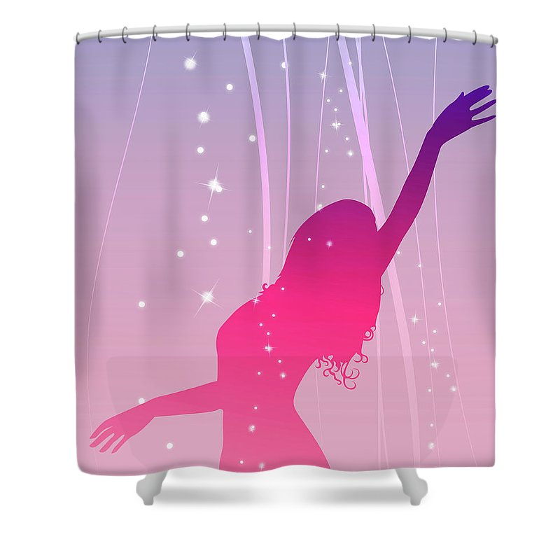 Working Shower Curtain featuring the digital art Moulding Art by Best View Stock