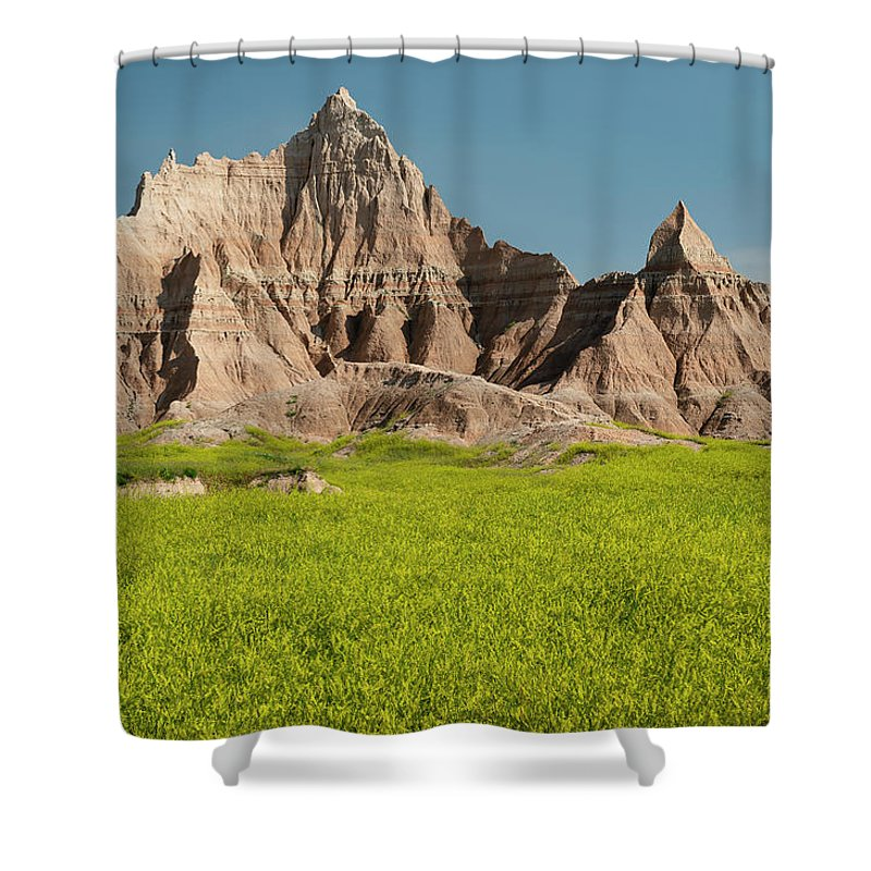 North America Shower Curtain featuring the photograph Badlands by Christian Heeb