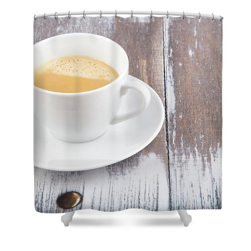 Cappuccino Shower Curtain featuring the photograph Coffee by Focusstock