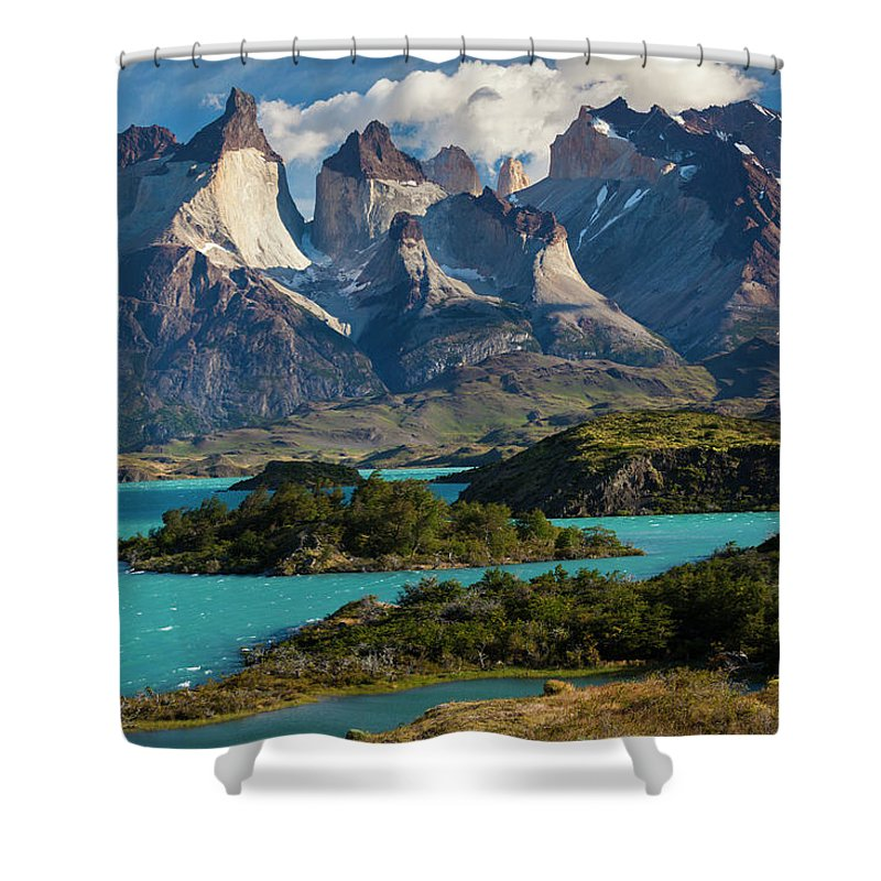 Chile Torres Del Paine National Park Shower Curtain For Sale By Walter Bibikow