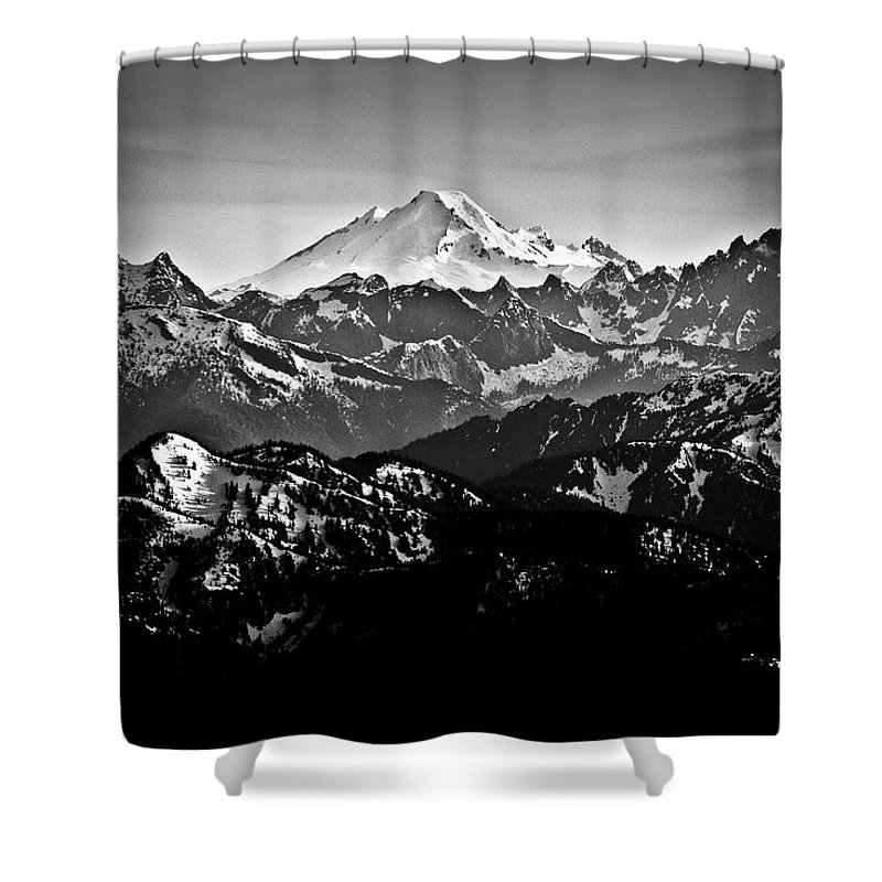 Tranquility Shower Curtain featuring the photograph Mount Baker by Christopher Kimmel