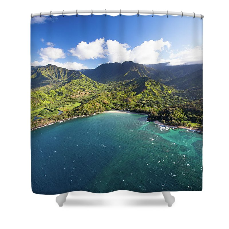 Tranquility Shower Curtain featuring the photograph Scenic Aerial Views Of Kauai From Above by Matthew Micah Wright