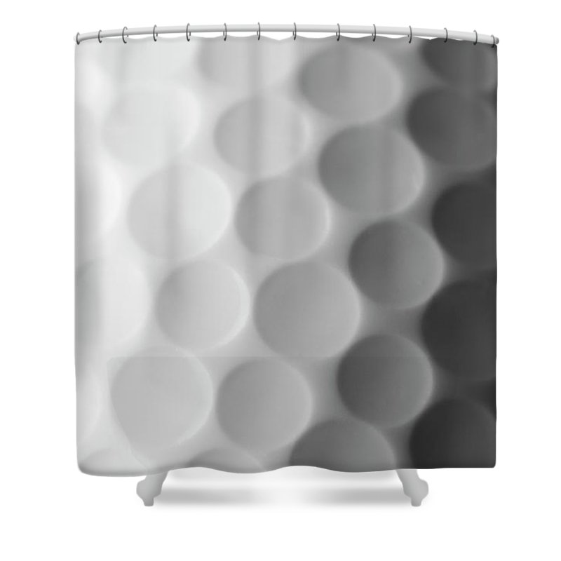 Ball Shower Curtain featuring the photograph A Close Up Shot Of A Golf Ball, White by Anthiacumming