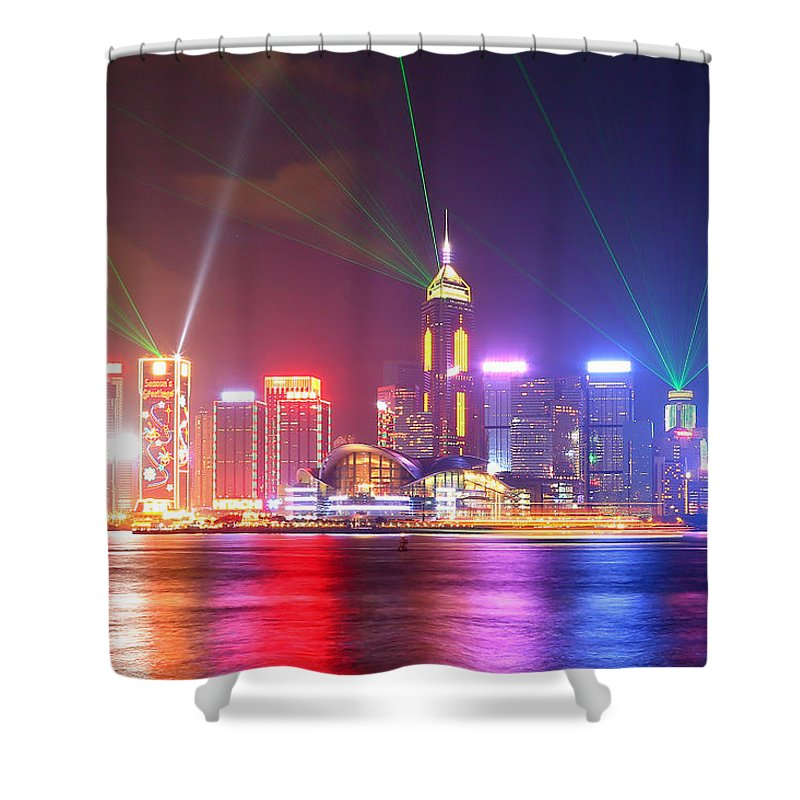 Tranquility Shower Curtain featuring the photograph A Symphony Of Lights by Liu Wai Yip Even