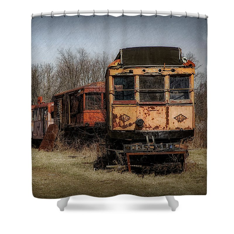 Abandoned Car Shower Curtains