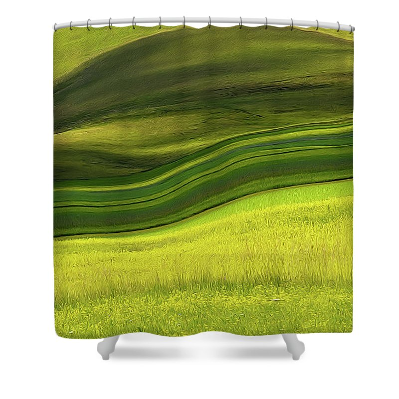 Scenics Shower Curtain featuring the photograph Abstract Landscape by Edoardogobattoni.net