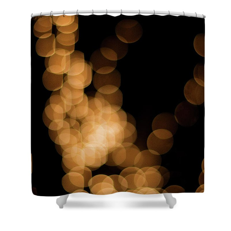 Funky Shower Curtain featuring the photograph Abstract Lights by Miss pj