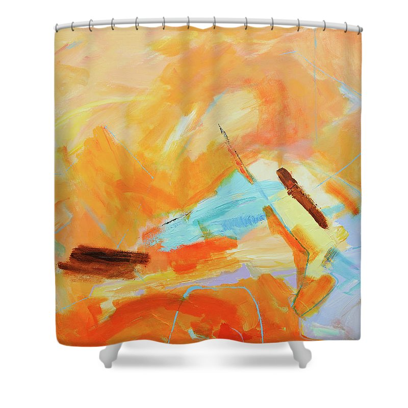 Oil Painting Shower Curtain featuring the digital art Abstract Oil Painting by Balticboy