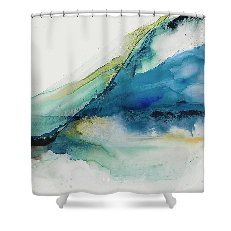 Abstract Shower Curtain featuring the painting Abstract Terrain Iv by Sisa Jasper