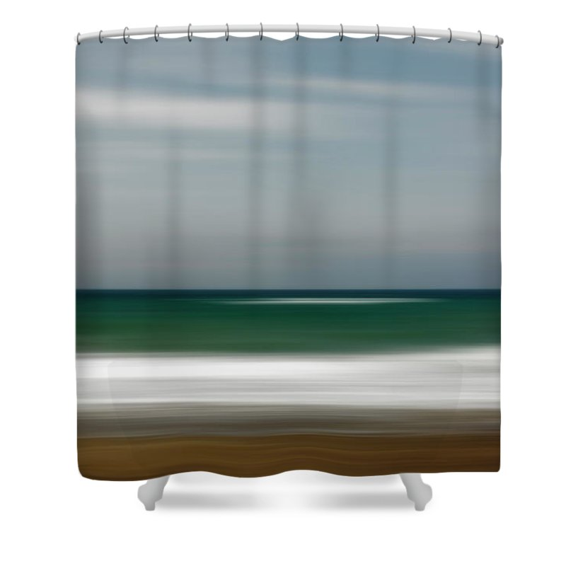 Photography Shower Curtain featuring the photograph Abstract Waves by Vicente Sargues