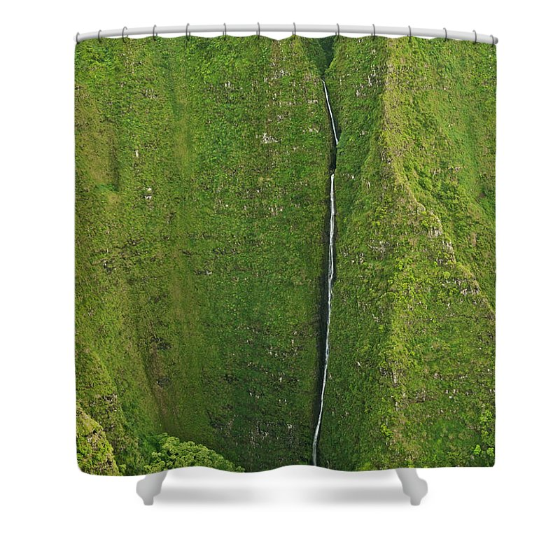 Scenics Shower Curtain featuring the photograph Aerial View Of Waterfall In Narrow by Enrique R. Aguirre Aves