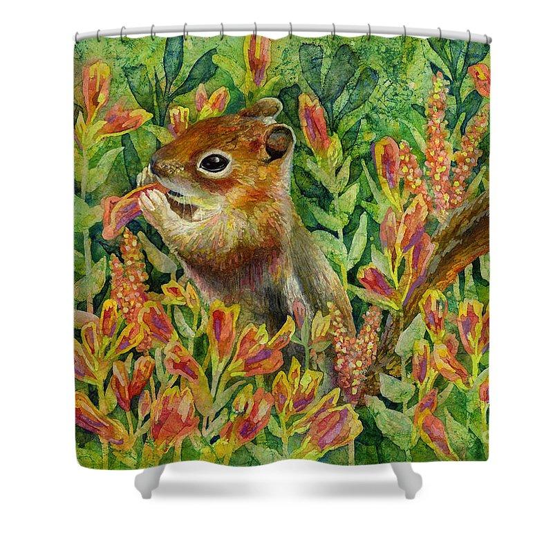 Chipmunk Paintings Shower Curtains