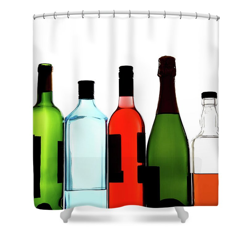 Alcohol Shower Curtain featuring the photograph Alcohol by Mattjeacock