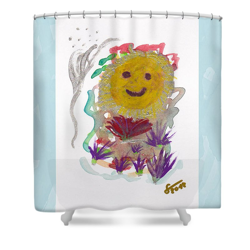 Painting Shower Curtain featuring the painting Alegria - Pintoresco Art By Sylvia by Sylvia Pintoresco