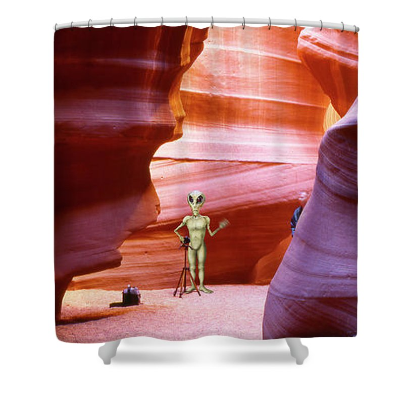 Ufo Shower Curtain featuring the photograph Alien Vacation - Page Arizona by Mike McGlothlen