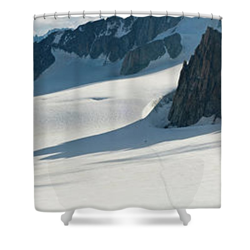 Scenics Shower Curtain featuring the photograph Alps Mont Blanc Vall&233e Blanche by Fotovoyager