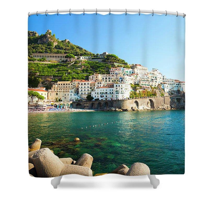 Tyrrhenian Sea Shower Curtain featuring the photograph Amalfi Coast, Italy by Brzozowska