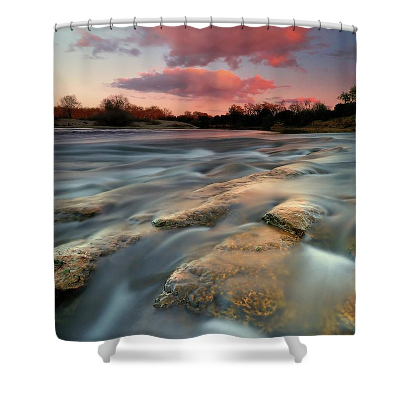 Scenics Shower Curtain featuring the photograph American River Parkway At Sunset by David Kiene