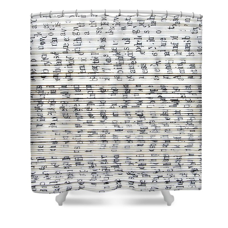 Information Medium Shower Curtain featuring the photograph Ancient Paper Book by Valerie Loiseleux