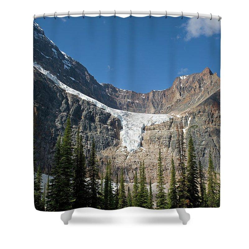 Scenics Shower Curtain featuring the photograph Angel Glacier by Jim Julien / Design Pics