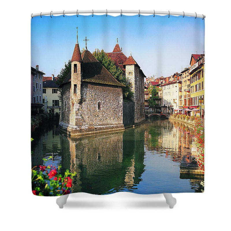 Town Shower Curtain featuring the photograph Annecy, Savoie, France by Robertharding