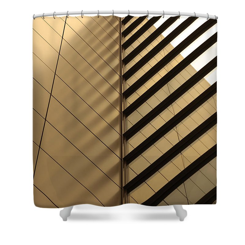 Architectural Feature Shower Curtain featuring the photograph Architecture Reflection by Tomasz Pietryszek