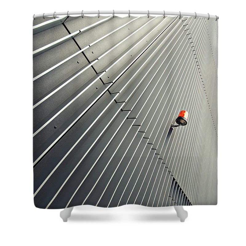 In A Row Shower Curtain featuring the photograph Architecture by Wecand