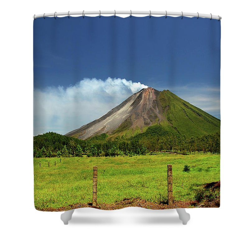 Scenics Shower Curtain featuring the photograph Arenal Volcano - Costa Rica by Titoslack