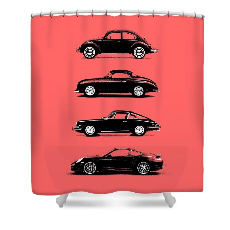 Porsche Shower Curtain featuring the photograph Evolution by Mark Rogan