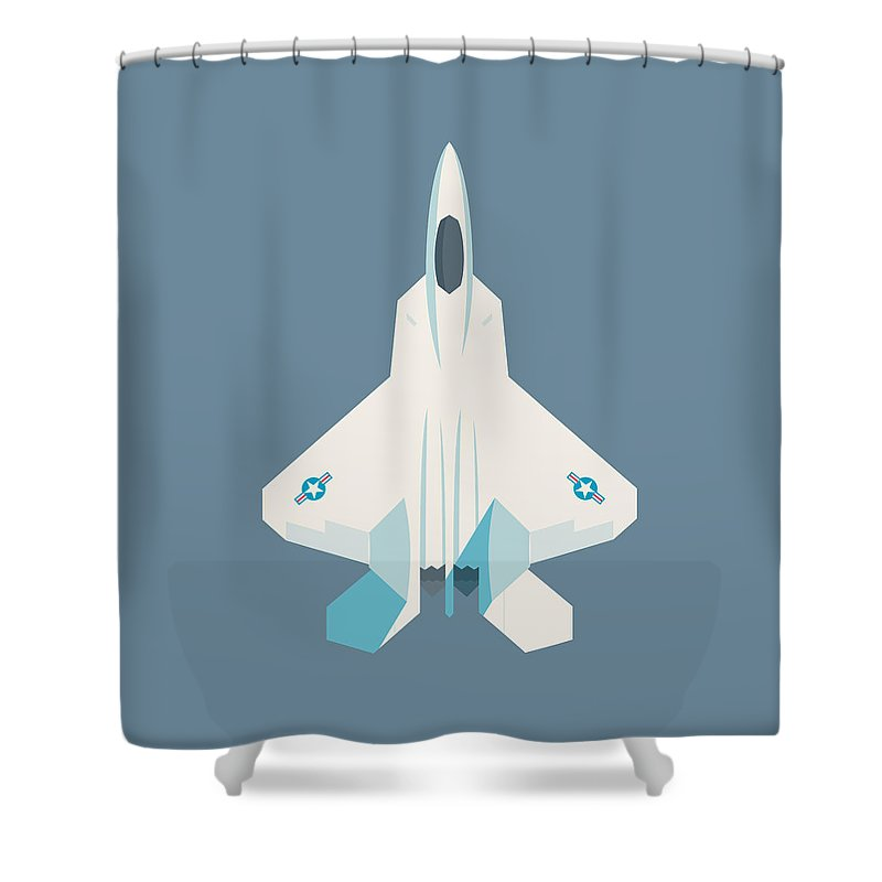 F22 Shower Curtains