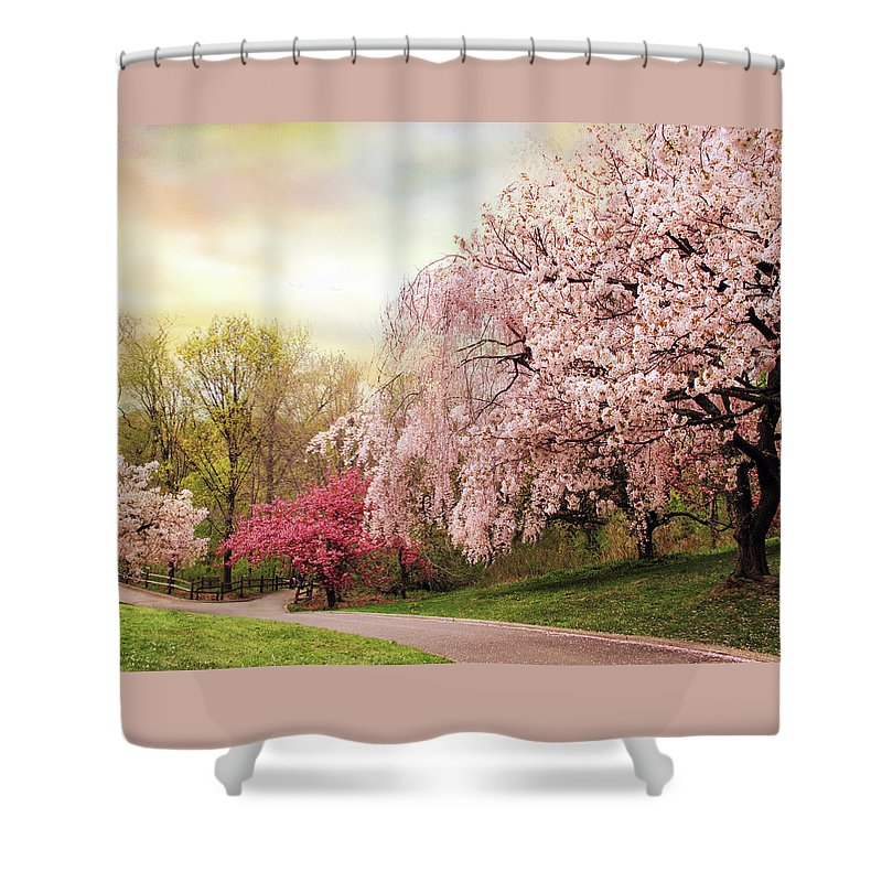 Nature Shower Curtain featuring the photograph Asian Cherry Grove by Jessica Jenney