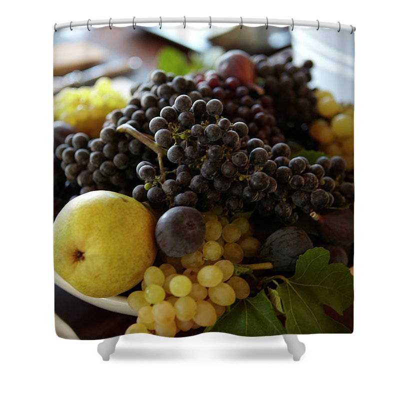 Healthy Eating Shower Curtain featuring the photograph Assorted Fruit by James Baigrie