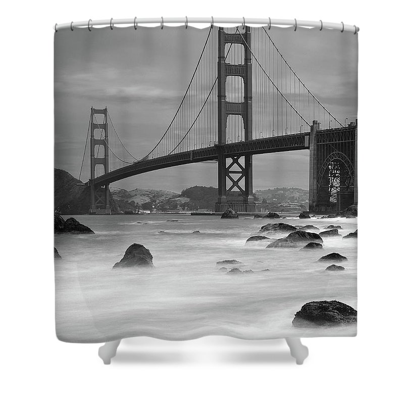 Tranquility Shower Curtain featuring the photograph Baker Beach Impressions by Sebastian Schlueter (sibbiblue)