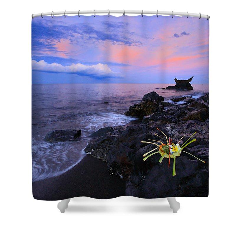 Bali Shower Curtain featuring the photograph Balance Of Life by Kadek Susanto
