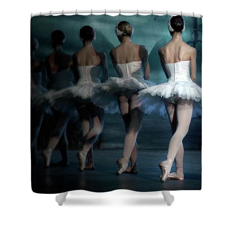 Expertise Shower Curtain featuring the photograph Ballerinas by Tunart