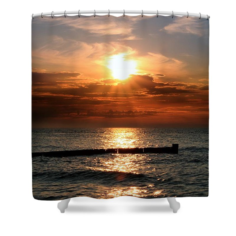 Tranquility Shower Curtain featuring the photograph Baltic Sunset by © Jan Zwilling