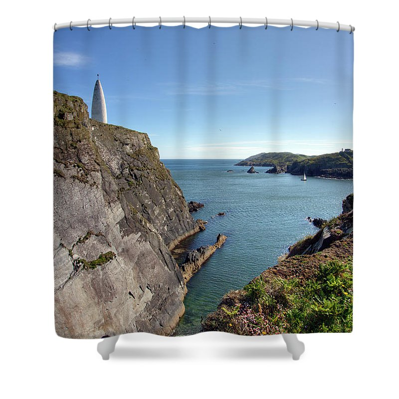Tranquility Shower Curtain featuring the photograph Baltimore Beacon by Keith Marshall