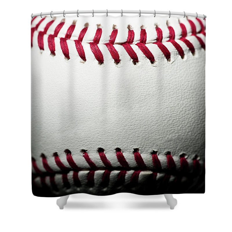 Ball Shower Curtain featuring the photograph Baseball by Pgiam