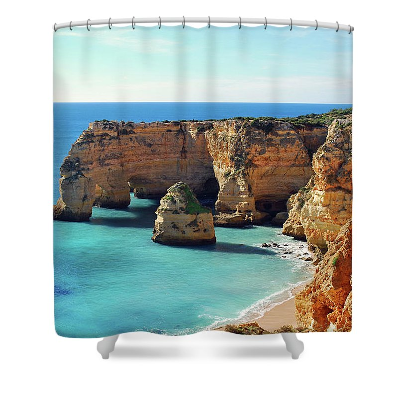 Algarve Shower Curtain featuring the photograph Beach by José Luís Pulido