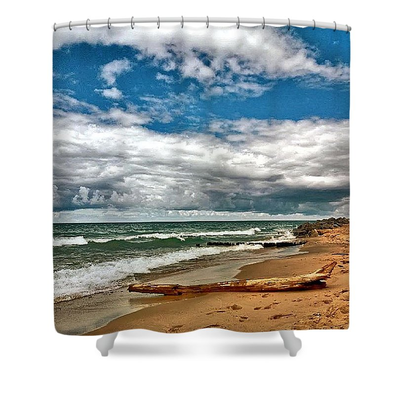 Shower Curtain featuring the photograph Beach by Photo Crane