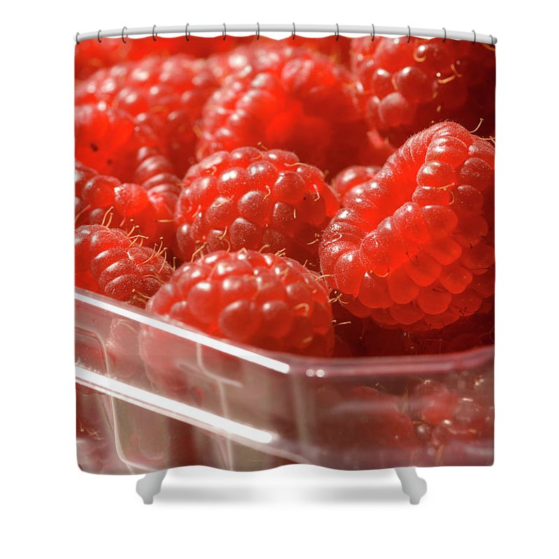Lifestyles Shower Curtain featuring the photograph Berries In Carton by Gwmullis