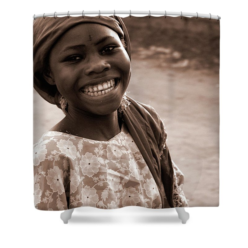 Child Shower Curtain featuring the photograph Big Smile by Peeterv