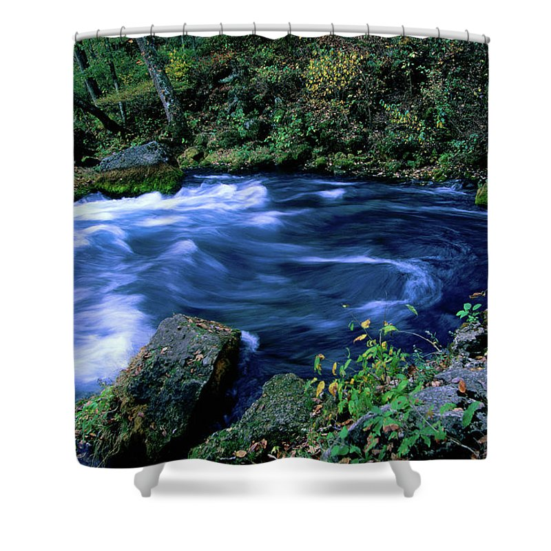 Scenics Shower Curtain featuring the photograph Big Spring, Ozarks National Scenic by John Elk Iii