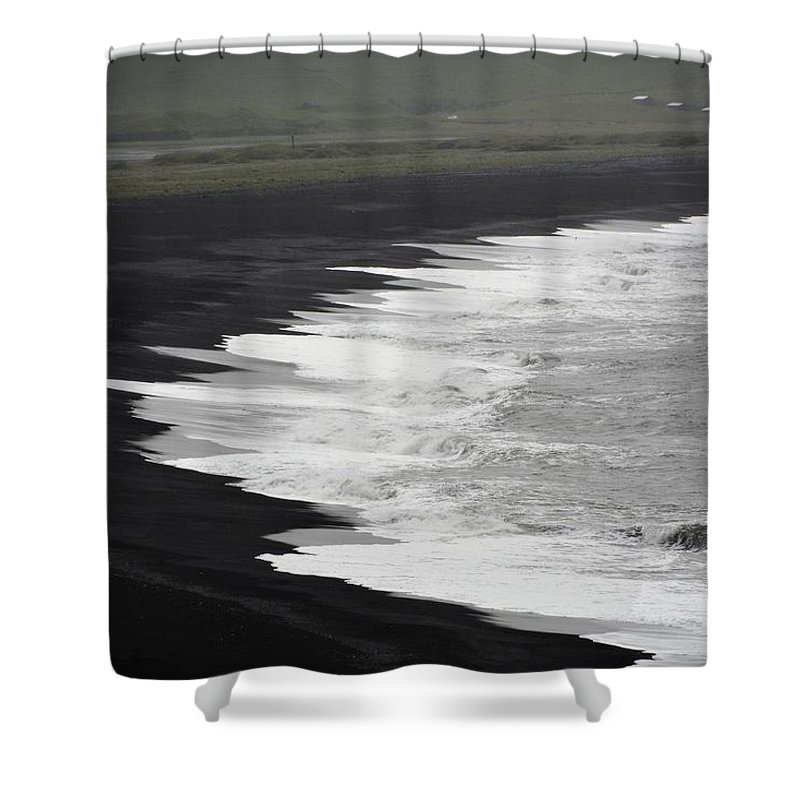 Iceland Shower Curtain featuring the photograph Black Beach by Norman Burnham