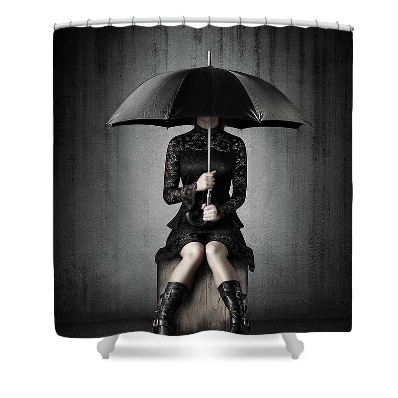 Anguish Photographs Shower Curtains